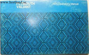 1975 Plymouth Valiant Operator's Manual