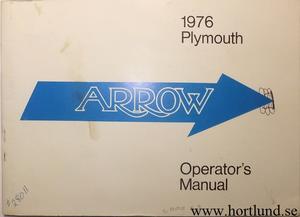 1976 Plymouth Arrow Operator's Manual
