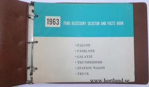 1963 Ford Dealer Album Accessory Selector and Facts Book