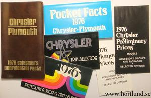 1976 Chrysler & Plymouth Salesmen's Confidential Facts