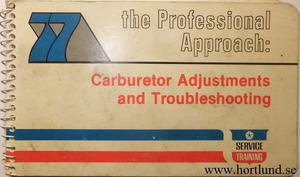 1977 Chrysler Corp Carburator Adjustments and Troubleshooting