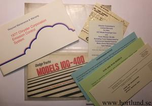 1977 Dodge Truck 100-400 Operating Instructions