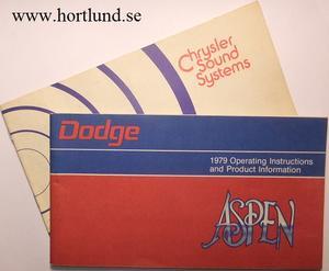 1979 Dodge Aspen Operating Instructions