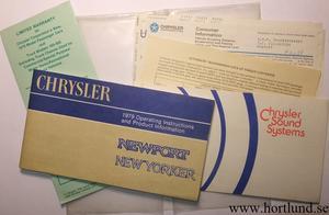 1979 Chrysler Operating Instructions