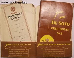 1953 De Soto Fire Dome V8 Instruktionsbok