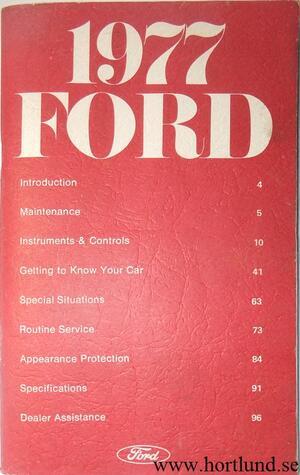 1977 Ford Custom och LTD Owners Manual