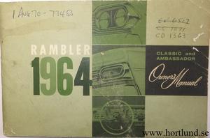 1964 Rambler Classic och Ambassador Owner's Manual