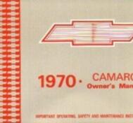 1970 Chevrolet Camaro Owner's Manual