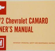 1972 Chevrolet Camaro Owner's Manual US