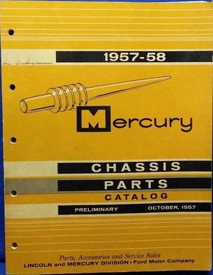 1957-1958 Mercury Chassis Parts Catalog