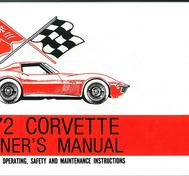 1972 Chevrolet Corvette Owner's Manual