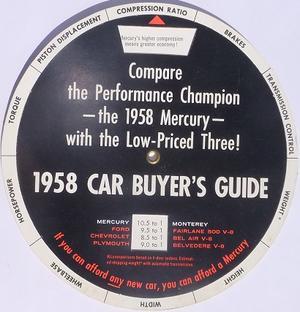 1958 Mercury datajämförelse