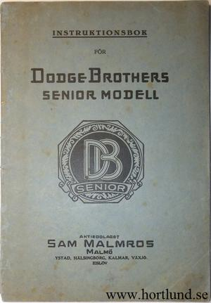 1928 Dodge Senior Instruktionsbok svensk