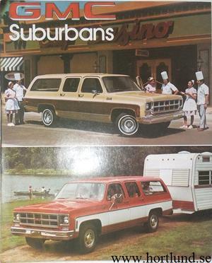 1978 GMC Suburbans Broschyr