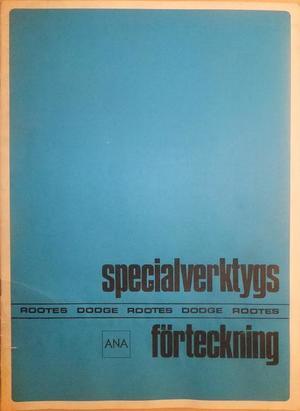 1968 Dodge Rootes Specialverktygsförteckning svensk original