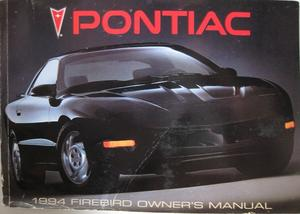 1994 Pontiac Firebird Owners Manual