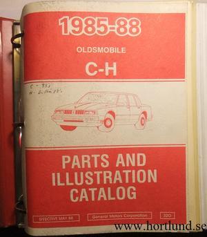 1985 - 1988 Oldsmobile 98 & Delta 88 Parts and Illustration Catalog
