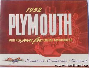 1952 Plymouth broschyr PA 291