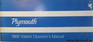 1969 Plymouth Valiant Operator's Manual