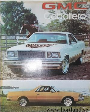 1978 GMC Caballero Broschyr