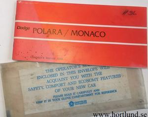 1969 Dodge Polara Monaco Operator's Manual