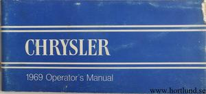 1969 Chrysler Operator's Manual