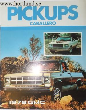 1978 GMC Pickups and Caballero Broschyr