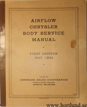 1934 Chrysler Airflow Body Service Manual original