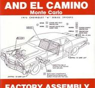 1972 Chevrolet Chevelle and El Camino, Monte Carlo Factory Assembly Instruction Manual