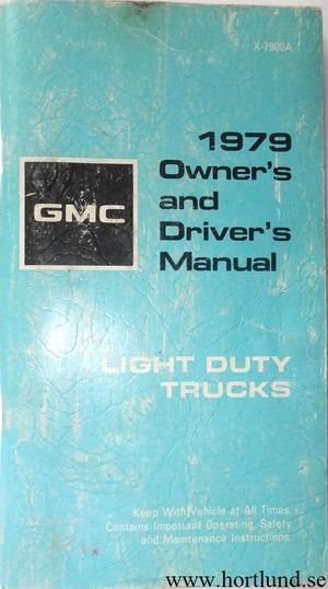 1979 GMC Light Duty Truck Owner's Manual