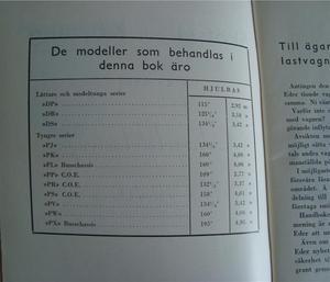 1947 Chevrolet Lastbilar Handbok Svenskt Original