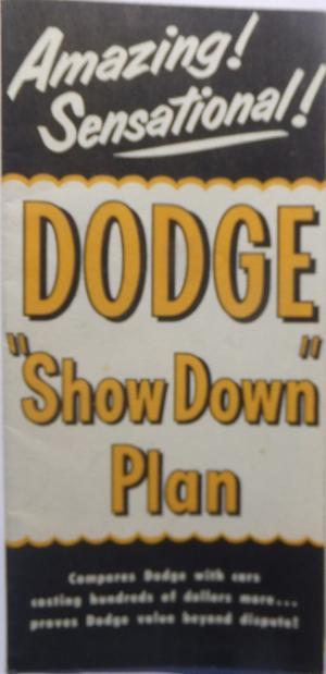 1952 Dodge broschyr DMA-7801