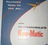 1958 Oldsmobile färgbroschyr New-Matic Ride