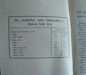 1945 Chevrolet Lastbilar Handbok Svenskt Original