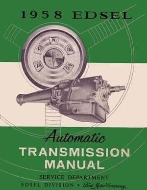 1958 Edsel Automatic Transmission Manual