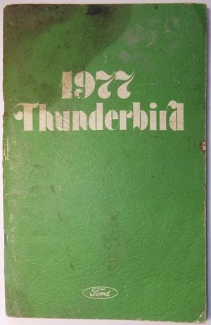 1977 Ford Thunderbird Owners Manual