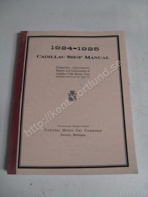 1924-1925 Cadillac Shop manual