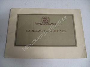 1926 Cadillac Försäljningsbroschyr