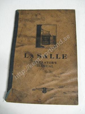 1929 Lasalle operators manual