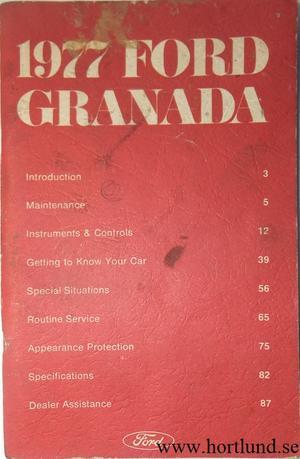1977 Ford Granada Owners Manual