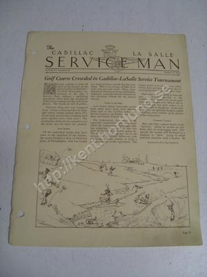 1932 Cadillac, La Salle The Cadillac La Salle service man