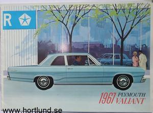1967 Plymouth Valiant broschyr svensk