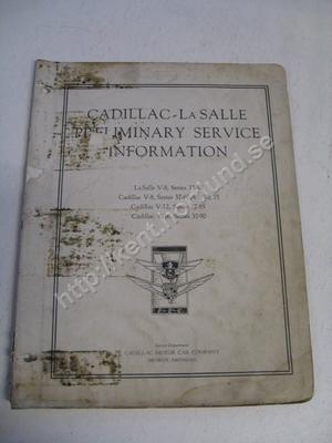 1937 Lasalle V-8, series 37-50 Cadillac v-8, series 37-60, 65, 70, 75 Cadillac V-12, Series 37-85 Cadillac V-16, series 37-90 Preliminary service information