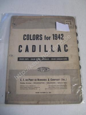 1942 Cadillac Colors for 1942 DuPont