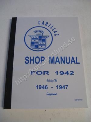 1942 - 1947 Cadillac Shop manual