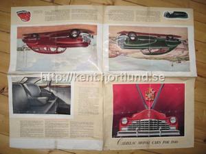 1946 Cadillac broschyr