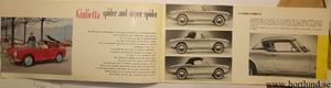 1958 Alfa Romeo Giulietta Spider and Super Spider broschyr