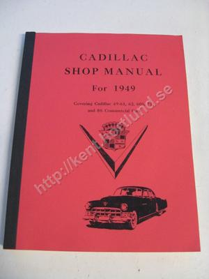 1949 Cadillac 49-61, 62, 60S, 75 and 86 Commercial cars Shop manual