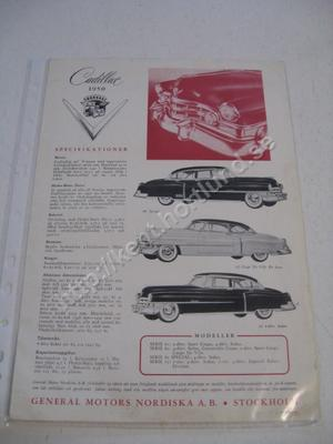 1950 Cadillac Försäljningsbroschyr