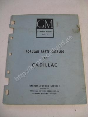 1954 Cadillac popular parts catalog for cadillac